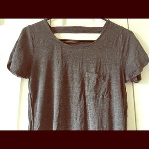 ⭐️ Gray Cotton Women's Top See Through Back